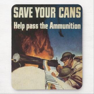 USA Vintage War Poster Mouse Pad