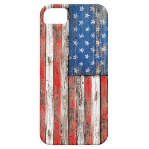 USA Vintage Wood iPhone 5 Fundas