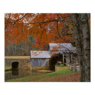 USA, Virginia, Blue Ridge Parkway, Autumn Posters