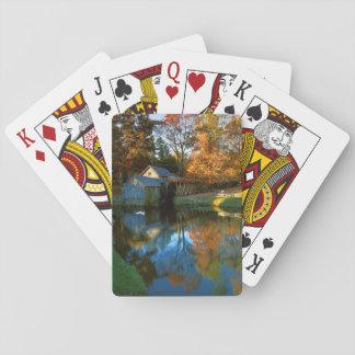 USA, Virginia, Blue Ridge Parkway, Mabry Mill Playing Cards