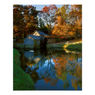 USA, Virginia, Blue Ridge Parkway, Mabry Mill Posters