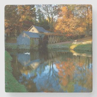 USA, Virginia, Blue Ridge Parkway, Mabry Mill Stone Coaster