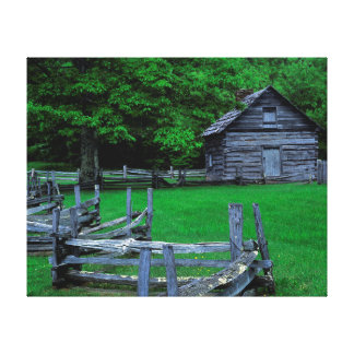 USA, Virginia, Blue Ridge Parkway, The Puckett Gallery Wrapped Canvas