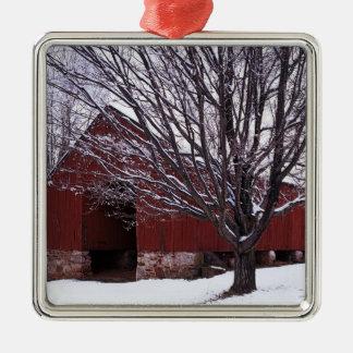 USA, Virginia, Fairfax County, Barn and Maple Metal Ornament
