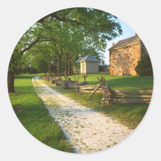 USA, Virginia, Fairfax County, Sully Plantation Classic Round Sticker