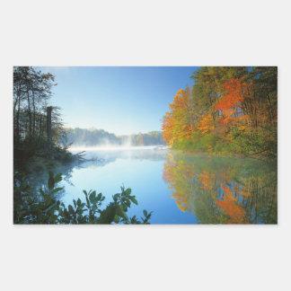 USA, Virginia, Fairy Stone State Park Rectangular Sticker