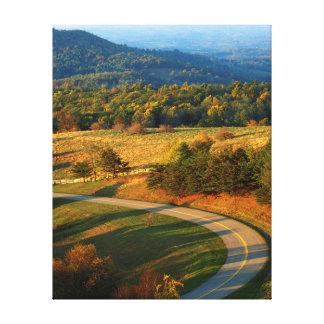 USA, Virginia, Patrick County, The Blue Ridge Canvas Print