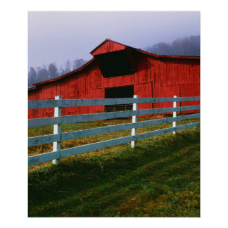 USA, Virginia, Scott County. Red Barn Posters