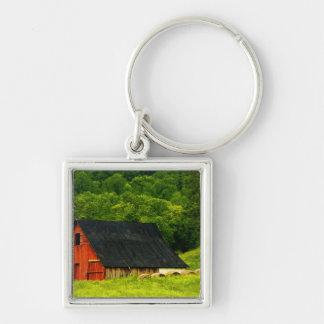 USA, Virginia, Shenandoah National Park, 2 Silver-Colored Square Keychain