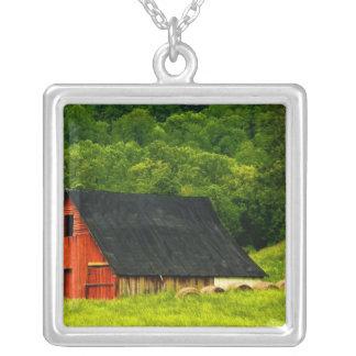 USA, Virginia, Shenandoah National Park, 2 Square Pendant Necklace