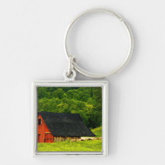 USA, Virginia, Shenandoah National Park, 2 Silver-Colored Square Keychain