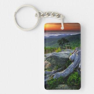 USA, Virginia, Shenandoah National Park. Double-Sided Rectangular Acrylic Keychain