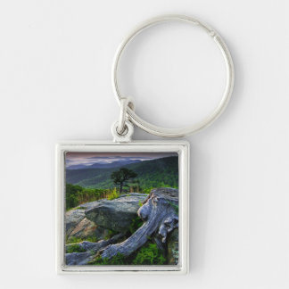 USA, Virginia, Shenandoah National Park. Silver-Colored Square Keychain