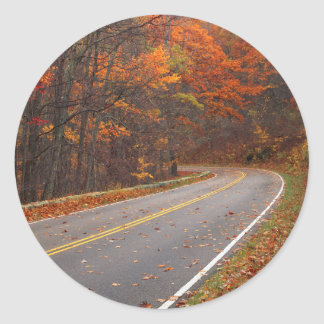 USA, Virginia, Shenandoah National Park, Skyline Classic Round Sticker