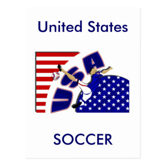 USA volley soccer lovers US soccer team gifts Postcard