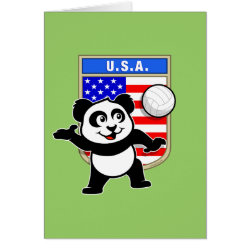 Note Card with USA Volleyball Panda design