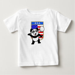 Baby Fine Jersey T-Shirt with USA Volleyball Panda design