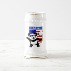 Stein with USA Volleyball Panda design