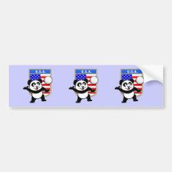 Bumper Sticker with USA Volleyball Panda design