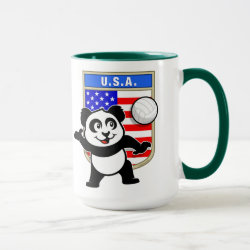 Combo Mug with USA Volleyball Panda design