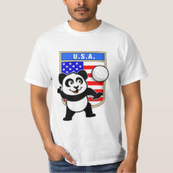 Men's Crew Value T-Shirt with USA Volleyball Panda design