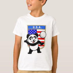 Kids' Hanes TAGLESS® T-Shirt with USA Volleyball Panda design