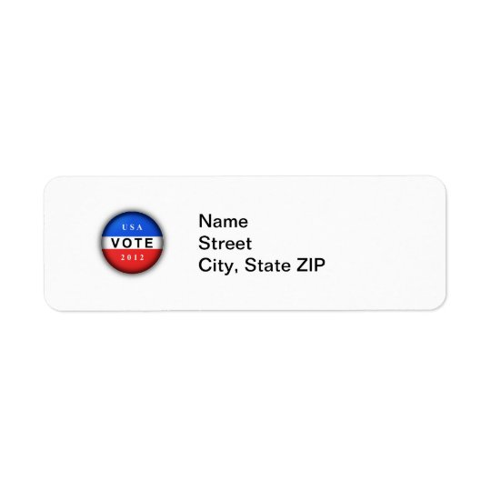 USA Vote 2012 Label