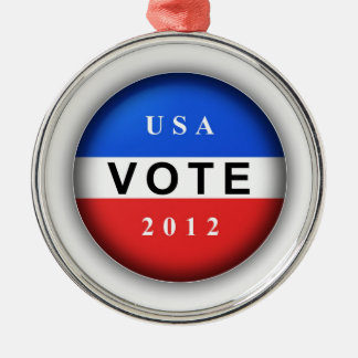 USA Vote 2012 Christmas Tree Ornaments