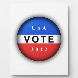 USA Vote 2012 Plaque