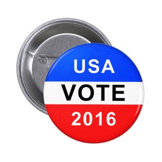 USA VOTE 2016 BUTTON