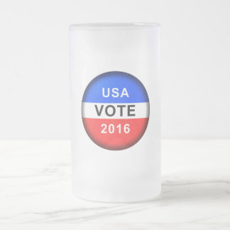 USA VOTE 2016 FROSTED GLASS BEER MUG