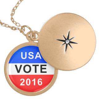 USA VOTE 2016 LOCKET NECKLACE