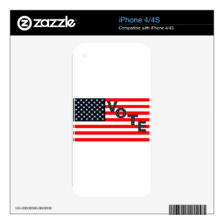 Usa Vote iPhone 4 Decal