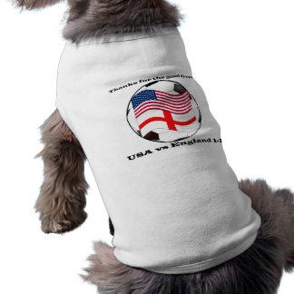 USA vs England 2010 World Cup Soccer Doggie Tee Shirt