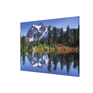 USA, WA, Heather Meadows RA. Mount Shuksan at Canvas Print