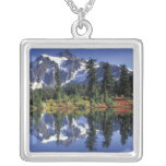 USA, WA, Heather Meadows RA. Mount Shuksan at Personalized Necklace