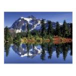 USA, WA, Heather Meadows RA. Mount Shuksan at Postcard