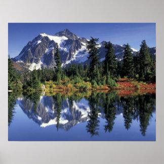 USA, WA, Heather Meadows RA. Mount Shuksan at Poster