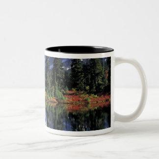 USA, WA, Heather Meadows RA. Mount Shuksan at Two-Tone Coffee Mug