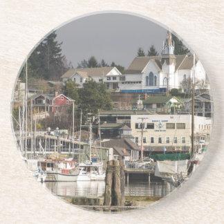 USA, Wa, Kitsap Peninsula. Scenic Town. Drink Coaster