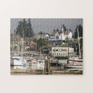 USA, Wa, Kitsap Peninsula. Scenic Town. Jigsaw Puzzle