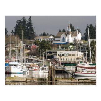 USA, Wa, Kitsap Peninsula. Scenic Town. Postcard