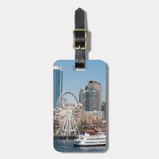 USA, Wa, Seattle. Argosy Harbor Cruise Boat Luggage Tag