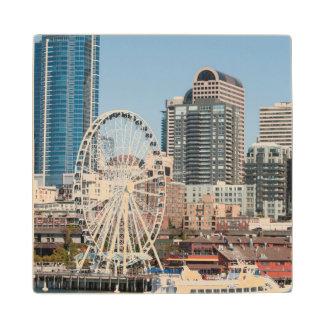 USA, Wa, Seattle. Argosy Harbor Cruise Boat Wooden Coaster