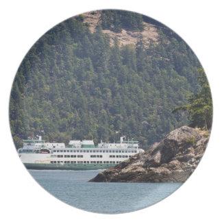 USA, WA. Washington State Ferries Dinner Plate