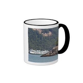 USA, WA. Washington State Ferries Ringer Coffee Mug