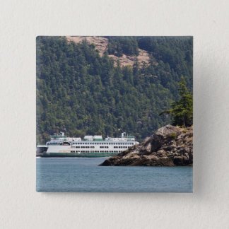USA, WA. Washington State Ferries Pinback Button