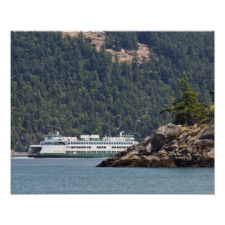 USA, WA. Washington State Ferries Poster