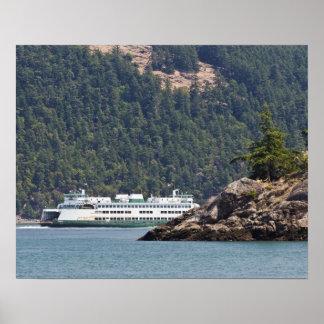 USA WA Washington State Ferries Posters