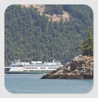 USA, WA. Washington State Ferries Square Sticker